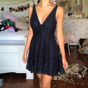 NWT UO Lace Navy Dress